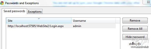 بازیابی و مشاهده پسورد ذخیره شده در مرورگرهای فایر فاکس و گوگل کروم و اینترنت اکسپلورر