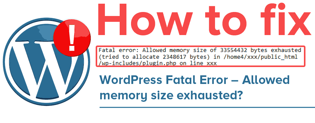 رفع خطای fatal error: Allowed Memory Size of xxx Bytes Exhausted  وردپرس