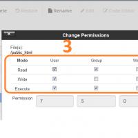 تغییر سطح دسترسی فایل در سی پنل change permissions
