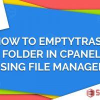 حذف فایل، پوشه و خالی کردن پوشه .trash در سی پنل