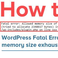رفع خطای fatal error: Allowed Memory Size of xxx Bytes Exhausted  وردپرس