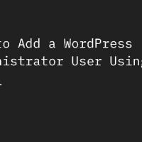 ایجاد اکانت ادمین وردپرس از طریق کد php