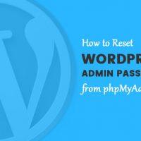 چطور رمز وردپرس را از php myadmin ریست کنیم؟